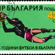 BULGARIA - CIRCA 1984: A stamp printed in Bulgaria showing Socc — Stock Photo