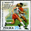POLAND - CIRCA 1986: 1986 World Cup Soccer Championships, Mexico - Stock Photo