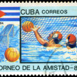 CUBA - CIRCA 1984: A stamp printed in CUBA shows water polo, ser — Stock Photo