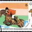 CUBA - CIRCA 1990: A post stamp printed CUBA, 1991 Pan American — Stock Photo #22620235