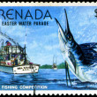GRENADA - CIRCA 1977: A stamp printed in Grenada issued for the — Foto de Stock