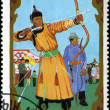 MONGOLIA - CIRCA 1988: stamp printed by Mongolia, shows Archery, — Stock Photo