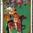 MONGOLIA - CIRCA 1988: stamp printed by Mongolia, shows horseman — Zdjęcie stockowe