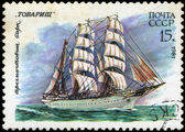 USSR- CIRCA 1981: a stamp printed by USSR, shows russian sailin — Foto Stock