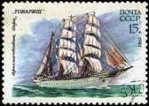 USSR- CIRCA 1981: a stamp printed by USSR, shows russian sailin — Zdjęcie stockowe
