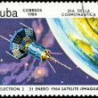 Stock Photo: CUBA CIRCA 1984: stamp printed by CUBA, shows Cosmonautics Day -
