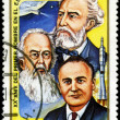 Постер, плакат: CUBA CIRCA 1981: a stamp printed in the Cuba shows Jules Verne