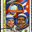 CUBA - CIRCA 1981: A stamp printed in CUBA, 20th anniversary fir — Stock Photo