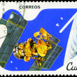 CUBA - CIRCA 1982: A stamp printed in CUBA, satellite, space sta — Stock Photo #23016236