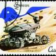 CUBA - CIRCA 1982: A stamp printed in CUBA, satellite, space sta — Stock Photo #23017474