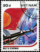 VIETNAM - CIRCA 1988: A stamp printed in Vietnam shows futuristi — ストック写真