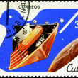 CUBA - CIRCA 1982: A stamp printed in CUBA, satellite, space sta — Stock Photo