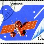 CUBA - CIRCA 1982: A stamp printed in CUBA, satellite, space sta — Stock Photo #23024338