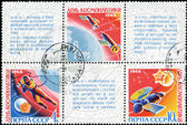 RUSSIA - CIRCA 1968: stamp printed by Russia, shows spaceship, s — Stock Photo