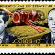 Stock Photo: USSR - CIRC1974: post stamp printed in USSR devoted astrophy