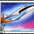Stock Photo: MONGOLI- CIRC1989: stamp printed by Mongolia, shows spaceshi