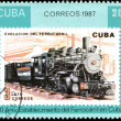 Royalty-Free Stock Photo: CUBA - CIRCA 1987: A Stamp printed in the Cuba shows antique loc