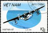 Vietnav - около 1987: stam напечатаны во вьетнаме показывает амфибии — Стоковое фото