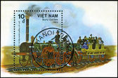 VIETNAM-CIRCA 1985: A stamp printed in the Vietnam, shows steam — Stock Photo