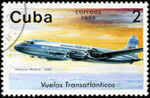 CUBA - CIRCA 1988: A Stamp printed in CUBA shows image of the ai — 图库照片