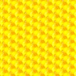 Golden cells of a honeycomb pattern. Vector illustration. — Stock Photo