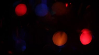 Blurred Christmas lights background. — Stock Video