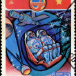 USSR - CIRCA 1980: a stamp printed by USSR, International space  — Stock Photo
