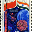 USSR - CIRCA 1984: A stamp printed in USSR shows the Intercosmos — Stock Photo #25168139