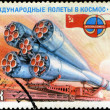 USSR - CIRCA 1978: A stamp printed in USSR, International flight — Stock Photo
