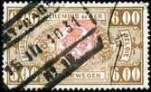 BELGIUM - CIRCA 1927: a stamp printed in the Belgium shows Coat — Zdjęcie stockowe