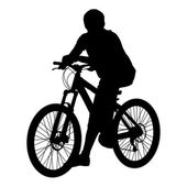 Silhouette of a cyclist male. vector illustration. — Stock Photo