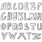 Hand drawing alphabet vector illustration — Stock Photo