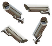 Security cameras camera on white background — Stock Photo