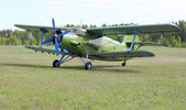 Biplane An-2 (Antonov) at the airport — Stock Photo