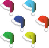 Caps for Santy - vector — Stock Photo