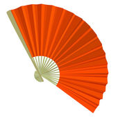 Traditional Folding Fans. Vector illustration. — Stock Photo