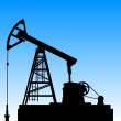 Oil pump jack. Oil industry equipment. Vector illustration. — Stock Photo