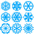 Set of snowflakes, vector illustration. — Stock Photo