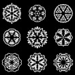 Set of snowflakes, vector illustration. — Stock Photo #33510369