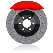 Disco freno con pinza, illustrazione vettoriale — Foto Stock