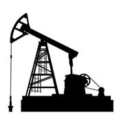 Oil pump jack. Oil industry equipment. Vector illustration. — Stockvector