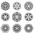 Set of snowflakes, vector illustration. — Stock vektor