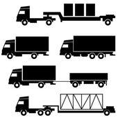 Set of vector icons - transportation symbols — Stock Vector
