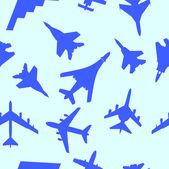 Dikişsiz duvar kağıdı askeri uçak vektör çizim — Stok Vektör