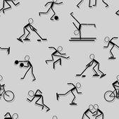 スポーツ アイコン。シームレスな壁紙. — ストックベクタ
