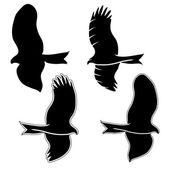 Eagle symboler och tattoo, vektor illustration. — Stockvektor