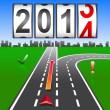 2014 New Year counter, vector. — Stock Vector