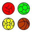 Set sport balls. Vector illustration — Stock Vector
