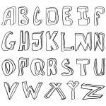 Hand drawing alphabet vector illustration — Stock Vector