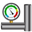 Gas manometer isolated on white background — Stock Vector